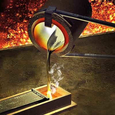 ذوب طلا, قالکاری و عیارسنجی