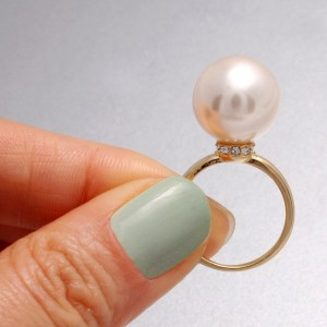 انگشتر جواهر مروارید