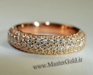 ست دستبند و حلقه جواهر