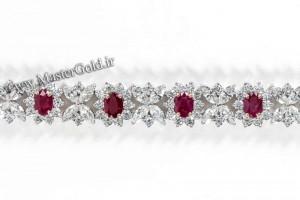 دستبند الماس و یاقوت قرمز