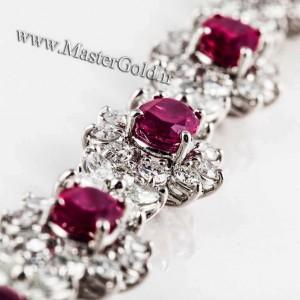 گردنبند الماس و یاقوت