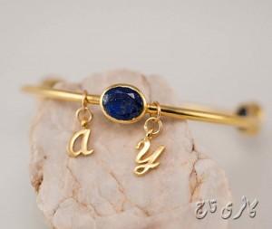 دستبند سنگ رنگی