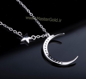گردنبند هلال ماه و ستاره