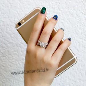 انگشتر جواهر گره پاپیونی