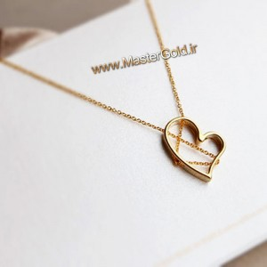 گردنبند قلب زنجیر شده