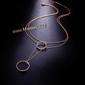 گردنبند حلقه ای برلیان