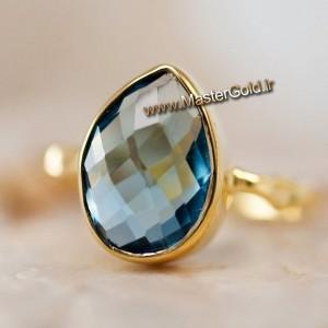 انگشتر سنگ رنگی