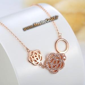 گردنبند گل رز