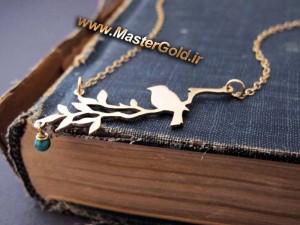 گردنبند پرنده بر شاخه