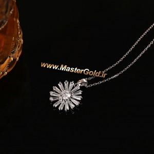 گردن آویز گل جواهر