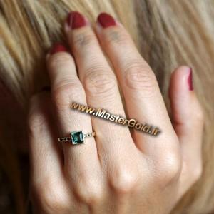 انگشتر تورمالین سبز