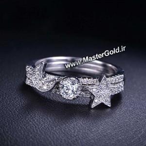 انگشتر جواهر سه تکه