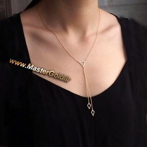 گردنبند رو لباسی هندسی