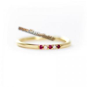 حلقه یاقوت و الماس