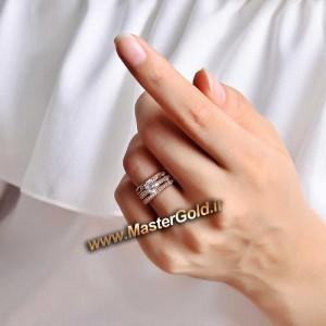 انگشتر سه تکه برلیان اتمی