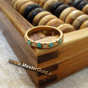 حلقه فیروزه و الماس