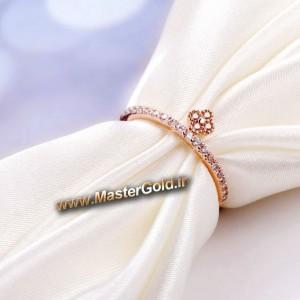 حلقه انگشتری ظریف الماس