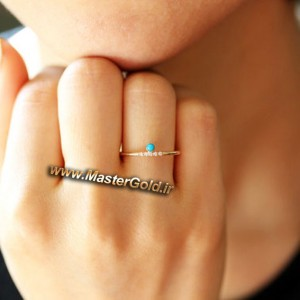 انگشتر فیروزه و الماس