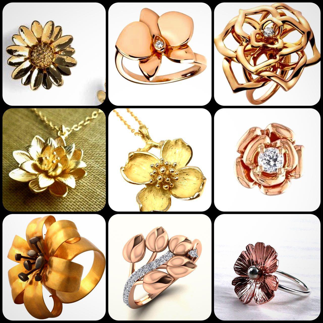 ایده هایی برای طراحی طلا و جواهرات