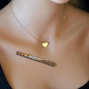 گردنبند قلب ساده