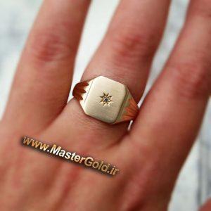 انگشتر مردانه طرح ستاره