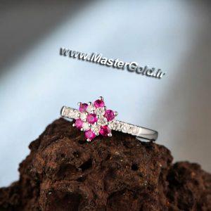 انگشتر جواهر یاقوت و الماس