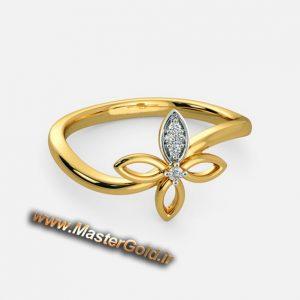 انگشتر جواهر چهار پر