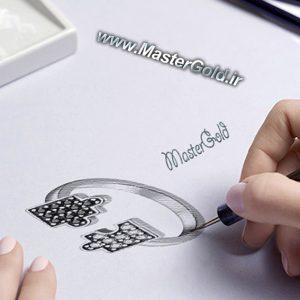 انگشتر جواهر طرح پازل