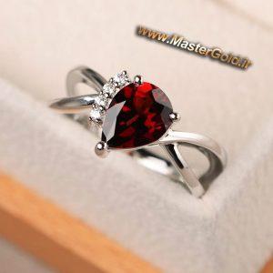 انگشترهای جواهر سنگ رنگی و برلیان