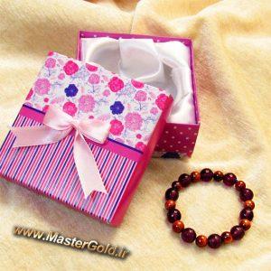 دستبند سنگ طبیعی آمتیست و دلربا