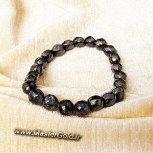 دستبند سنگ طبیعی لارویکیت تراش و حدید پیچی