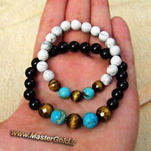 دستبند ست زنانه و مردانه سنگ طبیعی