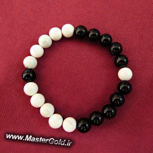 دستبند سنگ طبیعی طرح یین و یانگ