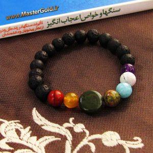 دستبند سنگ طبیعی هفت چاکرا